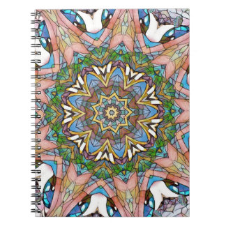 Pretty Cool Pastel Artistic Stained Glass Spiral Notebook