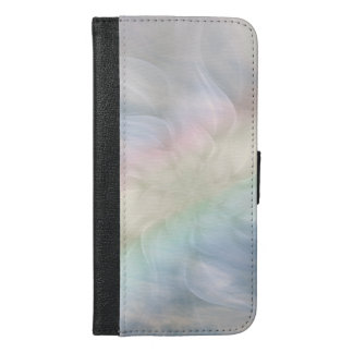 Pretty Cool Pastel Rainbow Mandala design iPhone 6/6s Plus Wallet Case