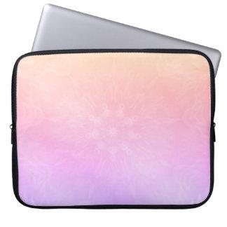 Pretty Cool Pastel Rainbow Mandala design Laptop Sleeve