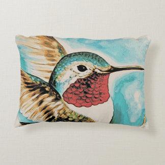Pretty Costa's Hummingbird Decorative Cushion