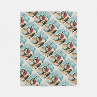 Pretty Costa's Hummingbird Fleece Blanket