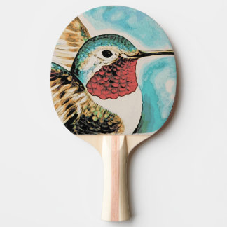 Pretty Costa's Hummingbird Ping Pong Paddle
