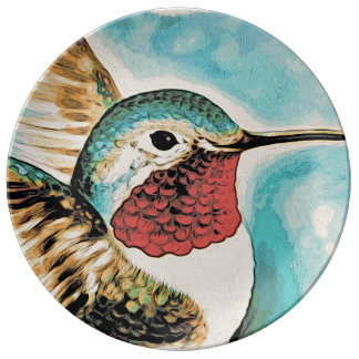 Pretty Costa's Hummingbird Plate