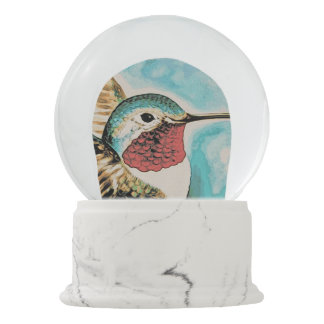 Pretty Costa's Hummingbird Snow Globe