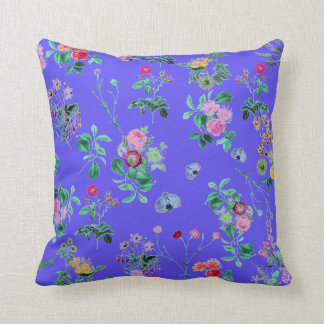 Pretty Country flowers  purple throw pillow Cushions