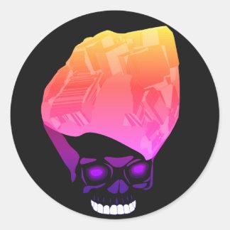 Pretty Cube Skull Classic Round Sticker