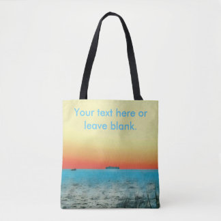 Pretty Customizable Artistic Coastal Landscape Tote Bag