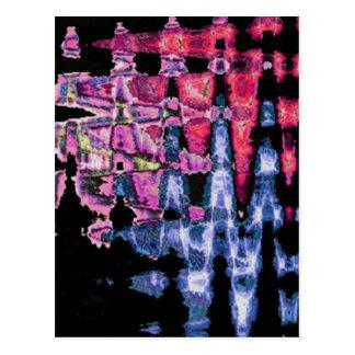 Pretty Cute water colors pattern Postcard