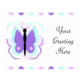 Pretty Cyan And Purple Butterfly Postcard
