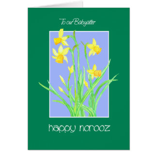 Pretty Daffodils for Babysitter Norooz Card
