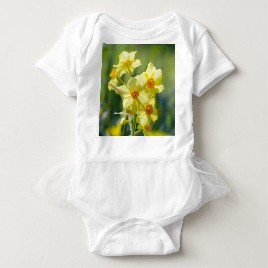 Pretty Daffodils, Narcissus 03.1 Baby Bodysuit