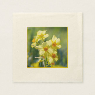 Pretty Daffodils, Narcissus 03.1 Disposable Napkins