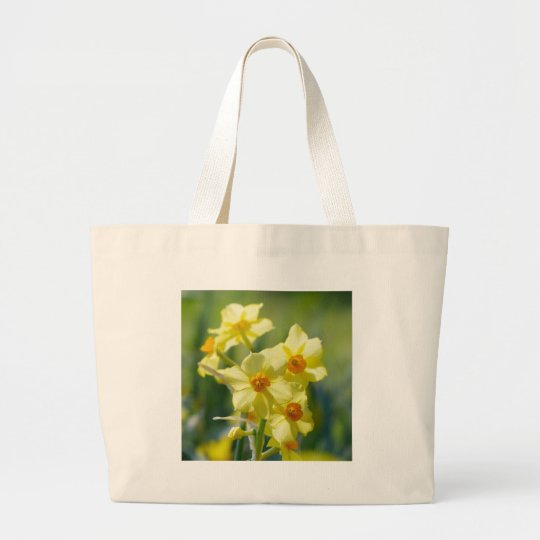 Pretty Daffodils, Narcissus 03.1 Large Tote Bag