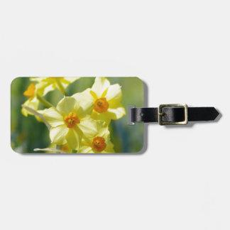 Pretty Daffodils, Narcissus 03.1 Luggage Tag