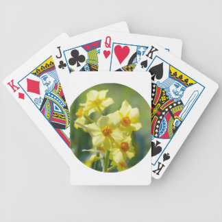 Pretty Daffodils, Narcissus 03.2_rd Bicycle Playing Cards