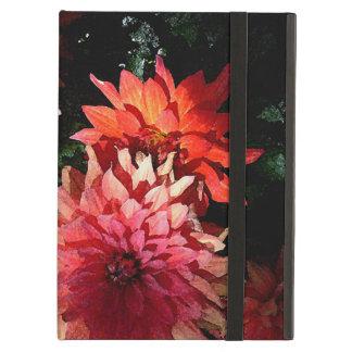 Pretty Dahlia iPad Case in Pink and Orange