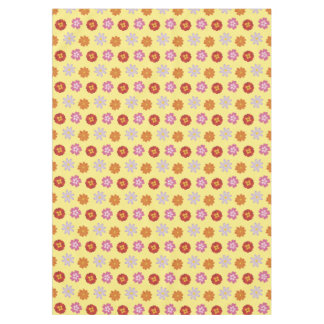 Pretty Daisies Floral Yellow Flower Pattern Tablecloth