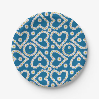 Pretty Daisy Chains on Blue, Custom Paper Plates