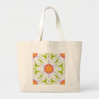 Pretty daisy design large tote bag