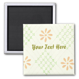 Pretty Daisy Flowers Square Magnet
