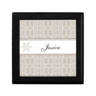Pretty Damask Lace Design Gift Box