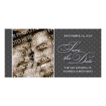 Pretty Damask Save The Date Photo Card