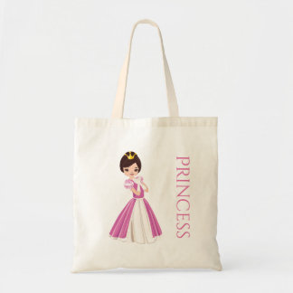 Pretty Dark Haired Princess Treat Bag