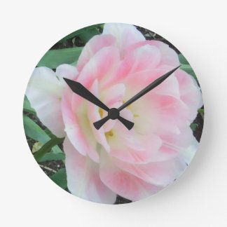 Pretty Delicate Feminine Flower White Pink Gifts Clocks