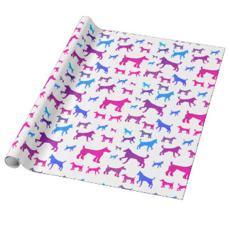 Pretty Dog Silhouettes Wrapping Paper