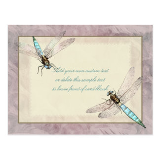 Pretty Dragonflies Message Card