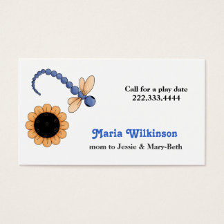 Pretty Dragonfly and Flower Mommy Card