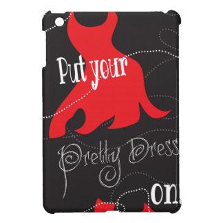 Pretty Dress Red & Black Design Cover For The iPad Mini