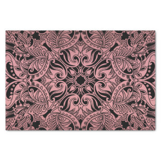 Pretty Dusty Rose and Black Paisley Tissue Paper