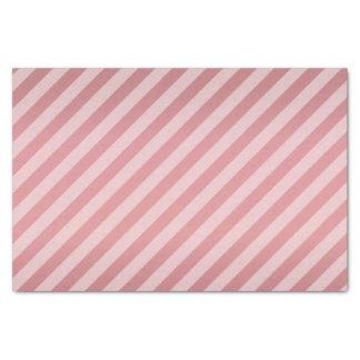 Pretty Dusty Rose and Diagonal Stripes Tissue Paper