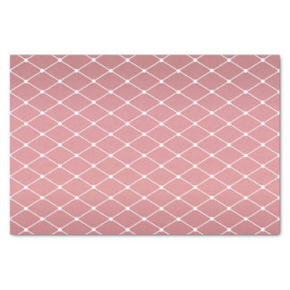 Pretty Dusty Rose and Diamond Pattern Tissue Paper