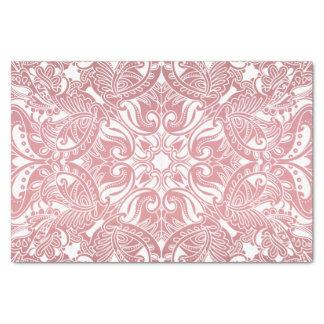 Pretty Dusty Rose and White Paisley Tissue Paper