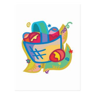 Pretty Easter Basket design Postcard