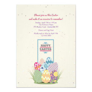 Pretty Easter Eggs Invitation
