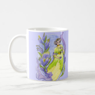 Pretty Edwardian style watercolor Coffee Mug