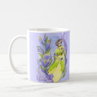 Pretty Edwardian style watercolor Mug