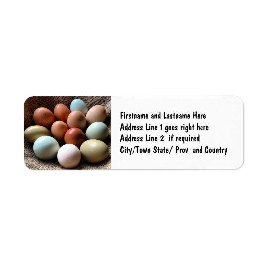 Pretty Eggs From Chicken Farm Return Address Label