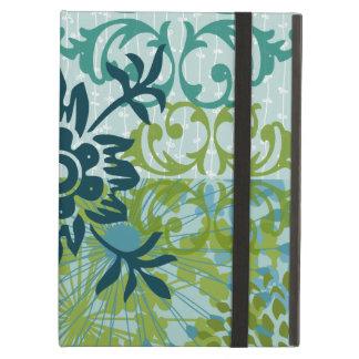 Pretty Elegant Blue Green Floral Damask Pattern iPad Air Covers