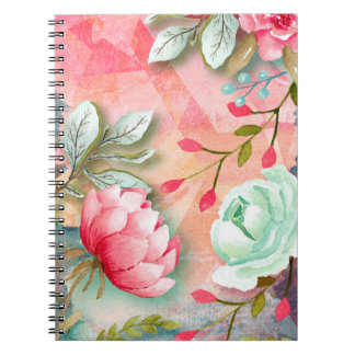 Pretty Elegant Watercolor Flower Floral Style Notebook