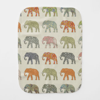 Pretty Elephant Pattern Colorful Burp Cloth
