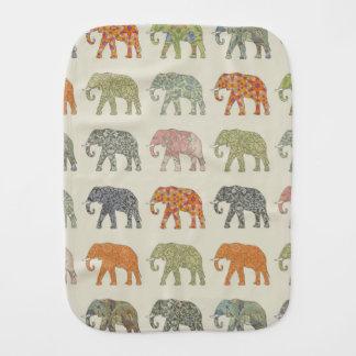 Pretty Elephant Pattern Colorful Burp Cloths