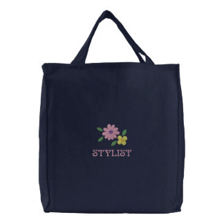 Pretty Embroidered Stylist Tote Bag