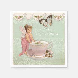Pretty Fairy Teacup Tea Party Baby Shower Decor Disposable Serviette