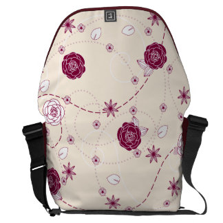 Pretty Feminine Floral Pattern Commuter Bag
