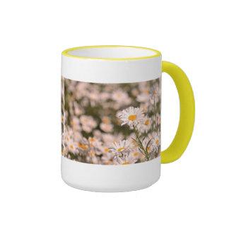 Pretty Field of Daisies Coffee Mugs