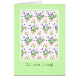 Pretty Floral 102nd Birthday Greeting Card